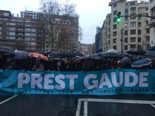 La marcha por los presos de ETA celebra el acercamiento anunciado por Francia