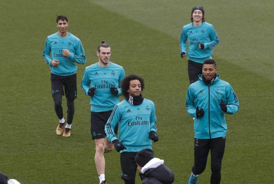 El Real Madrid completa una suave sesión antes de viajar a Kiev