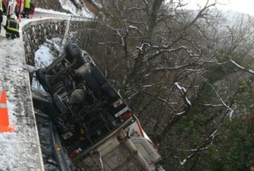Accidentados tres camiones en 8 minutos en diferentes localidades