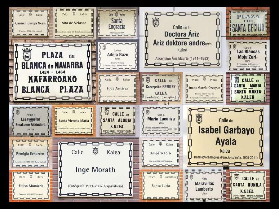 Una foto con placas de las calles gana el Concurso Pamplona en Femenino