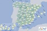 Hoy en España, lluvias y viento en Andalucía y nevadas en noroeste y sureste