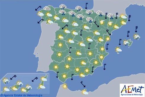 Hoy en España, viento fuerte en Pirineos, Ampurdán, Canarias y este de Baleares