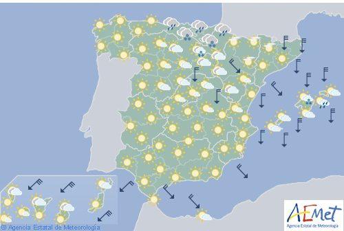 Hoy en España, cielos poco nubosos y temperaturas muy bajas