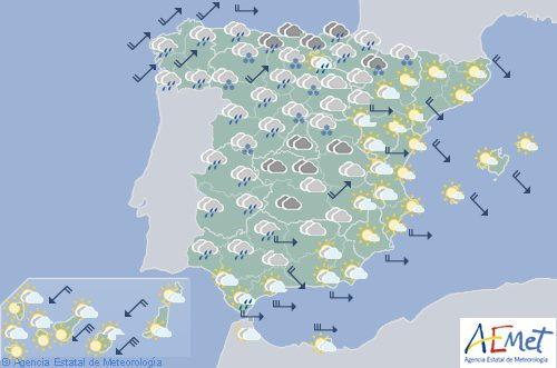 Hoy en España, viento fuerte en Galicia, Cantábrico, vertiente atlántica y levante
