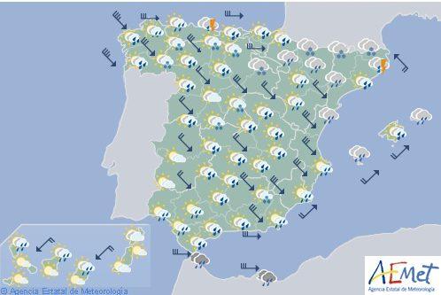 Hoy en España, vientos fuertes en Galicia, Cantábrico y zonas de vertiente atlántica