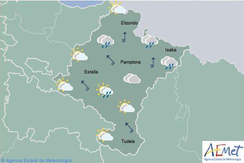 Alerta amarilla en Navarra por vientos fuertes