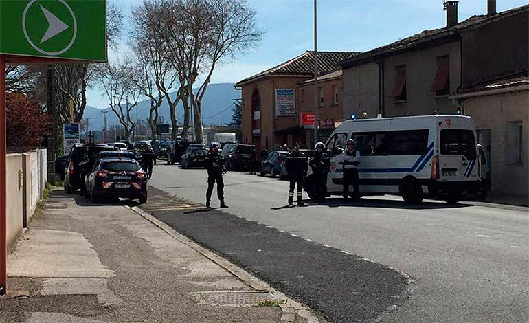Abatido el autor de la toma de rehenes en un supermercado en sur de Francia