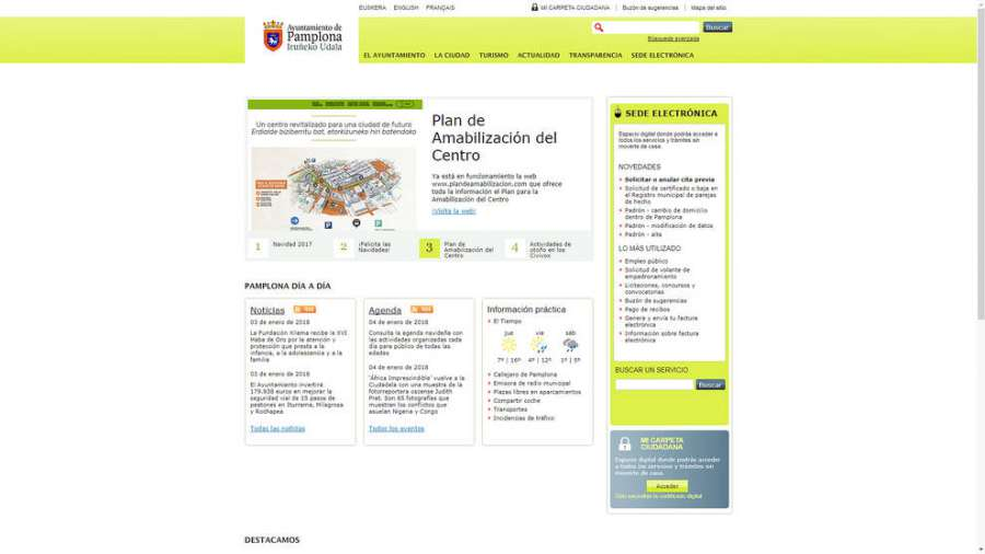Pamplona licita nueva web para mejor accesibilidad, comunicación y contenidos