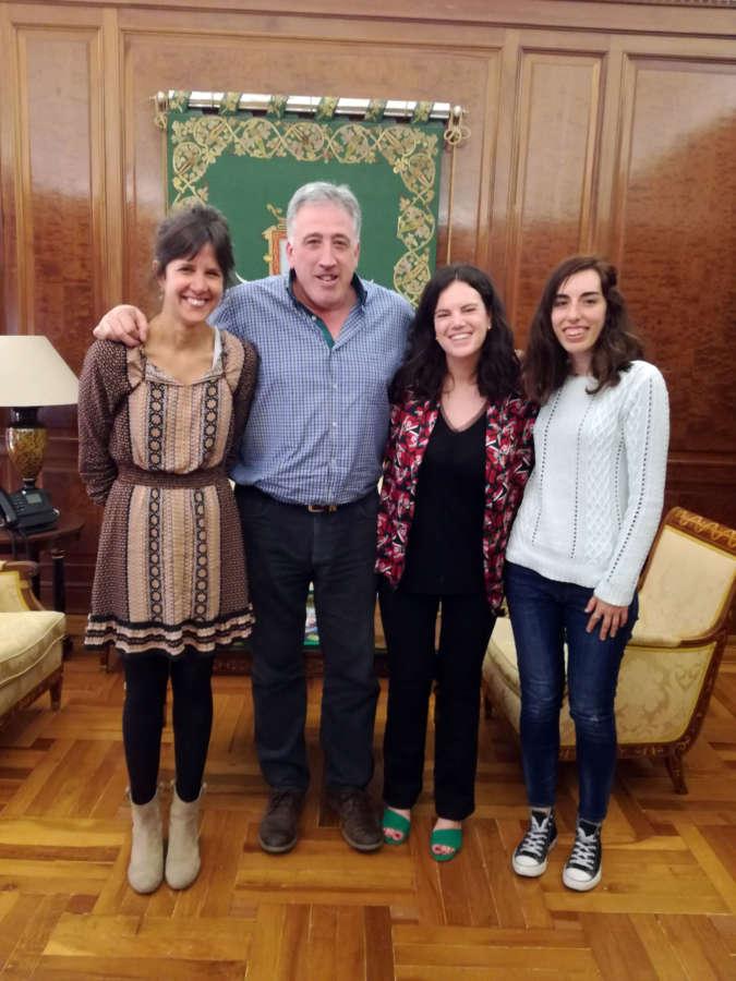 Pamplona recibe a representantes de las organizaciones que impulsan la Semana Mundial por la Educación (SAME)