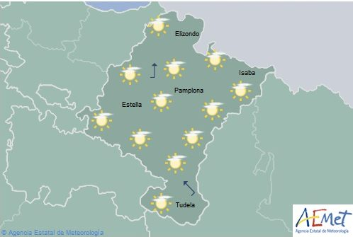 Descenso notable de las temperaturas máximas en el norte de Navarra