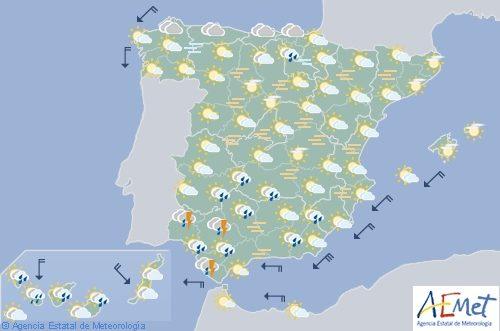 Hoy en España, bajan las máximas en el Cantábrico y vuelve la calima