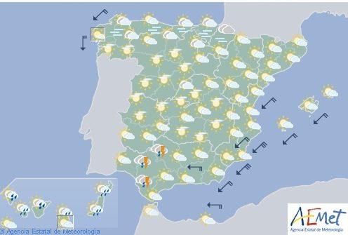Hoy en Navarra, tormentas fuertes en Andalucía y ascenso temperaturas en tercio norte