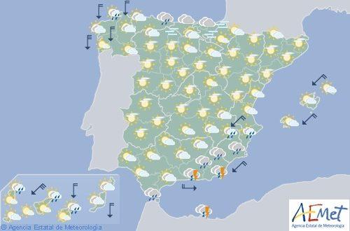 Hoy en España, lluvias en Granada y Almería, sin descartarlas en otras zonas sudeste