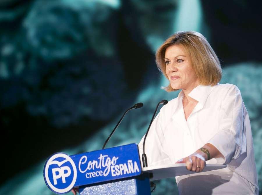 """Cospedal subraya que el PP no obtuvo """"ningún beneficio económico"""" con Gürtel"""