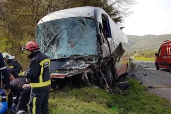 Fallece una segunda persona en el accidente de Lantz entre autobús y coche