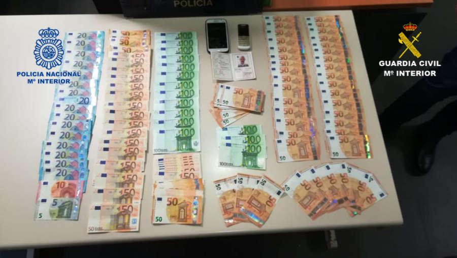 Detenidas tres personas en Alicante y Barcelona por introducir en España billetes falsos