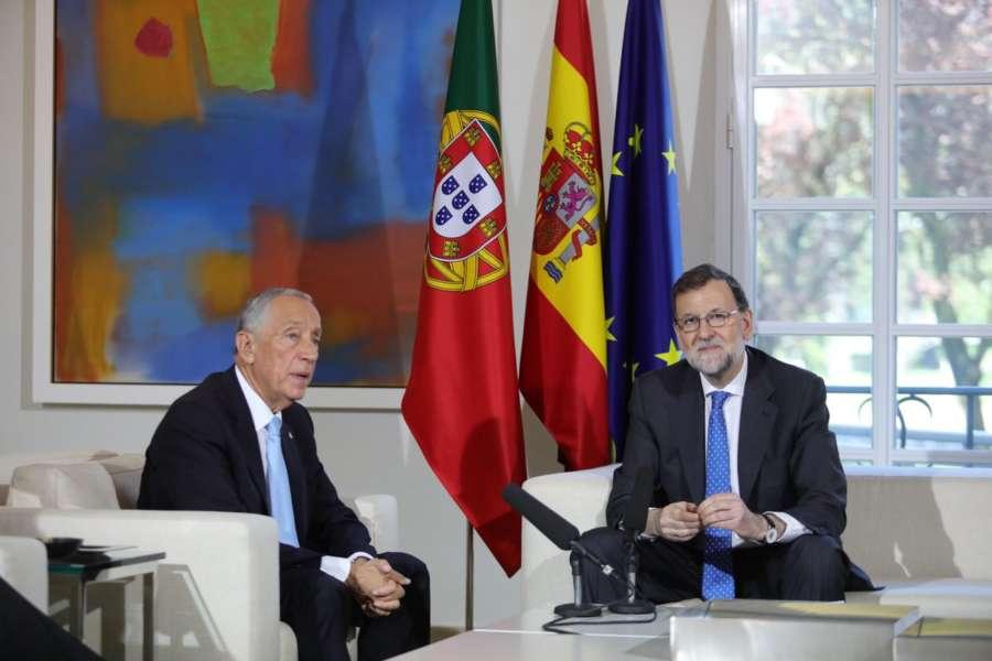 Rajoy y Rebelo de Sousa demandan una UE fuerte que atienda intereses ibéricos