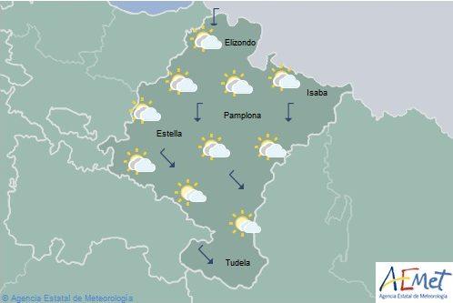El tiempo hoy en Navarra con intervalos nubosos y máximas en aumento