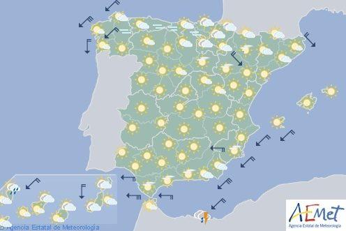 Hoy en España, lluvias fuertes en Melilla y ascenso de temperaturas en tercio norte