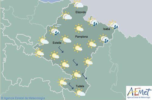 En Navarra nubosidad de evolución con probabilidad de tormentas con granizo en el norte