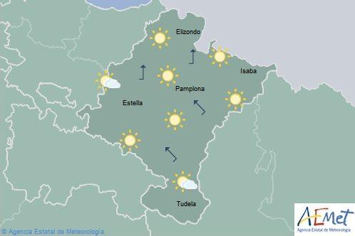 En Navarra nubosidad de evolución, alerta amarilla por lluvias y tormentas con posibilidad de granizo