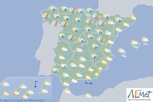Hoy en España seguirá lloviendo en la mitad norte