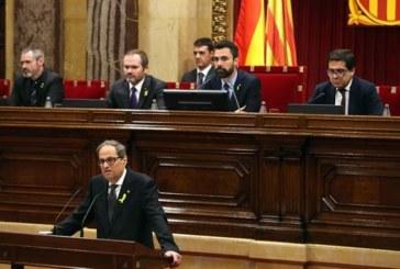 Torra garantiza que recuperará las 16 leyes suspendidas por el Constitucional