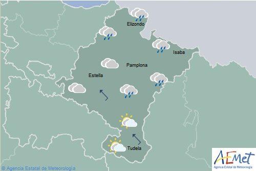 En Navarra nubosidad de evolución con chubascos y tormentas