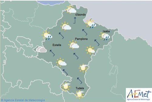 En Navarra temperaturas en descenso, nuboso o cubierto en el norte