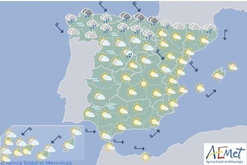 Hoy en España, intensas lluvias en el Cantábrico y tormentas en Pirineos y Gerona