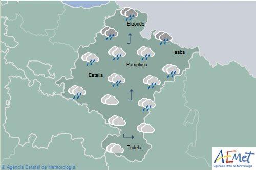 En Navarra, cielo nuboso disminuyendo, viento del suroeste arreciando por la tarde