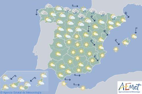 Hoy en España, fuertes lluvias en Pirineos y Gerona y viento en el Cantábrico