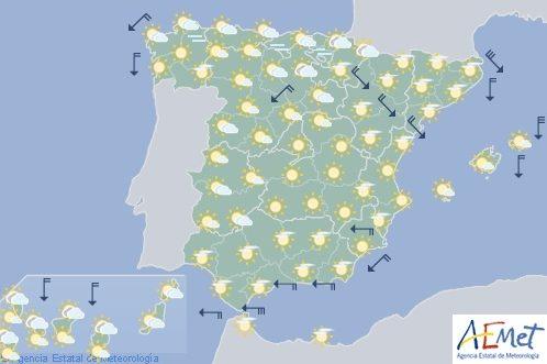 Hoy en España, temperaturas sin cambios, por encima de los 30 en el sur peninsular