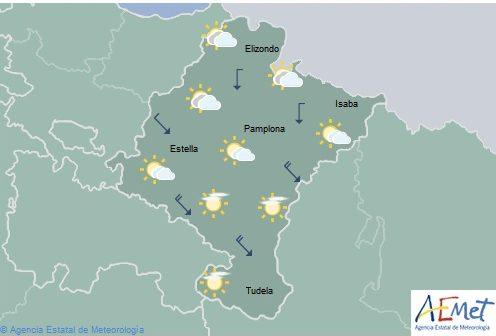 En Navarra nubosidad en el tercio norte, temperaturas con pocos cambios