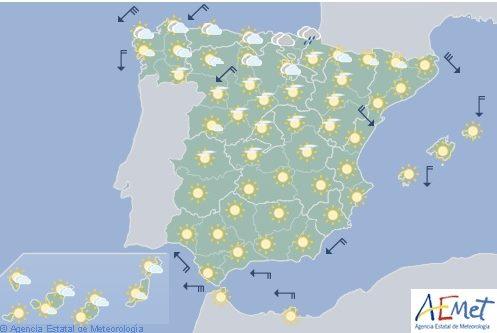 El tiempo estable se prolongará hoy en gran parte de España