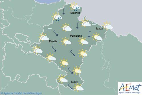 Temperaturas en aumento notable en el nordeste de Navarra