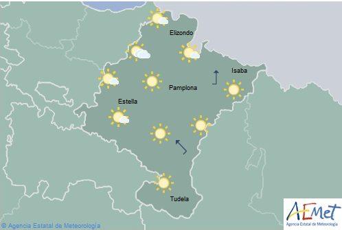 En Navarra en general poco nuboso o despejado