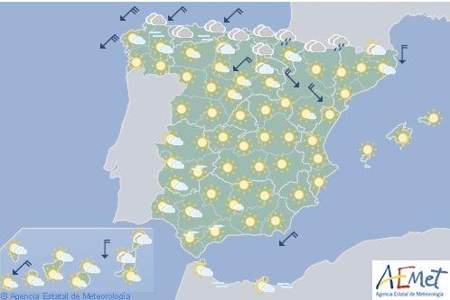 Hoy en España, chubascos y tormentas con granizo en Castilla y León y en Galicia