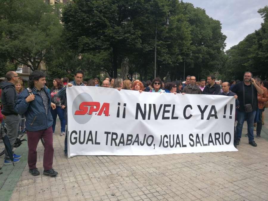 """SPA y UGT exigen al Gobierno de Navarra el """"encuadramiento"""" del Nivel D en C"""
