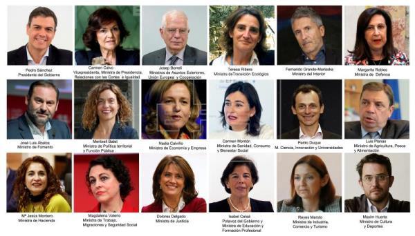 Los 17 ministros del Gobierno de Sánchez prometen sus cargos ante Felipe VI