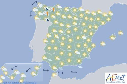 Hoy fuerte chubascos en el norte de España