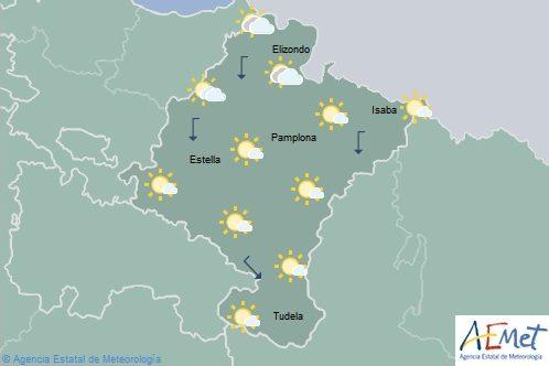 En Navarra cielo poco nuboso y temperaturas con pocos cambios