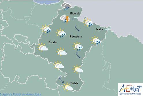 En Navarra predominio de cielo nuboso en el norte