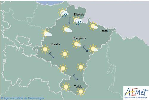 En Navarra cielo poco nuboso o despejado con temperaturas máximas en aumento