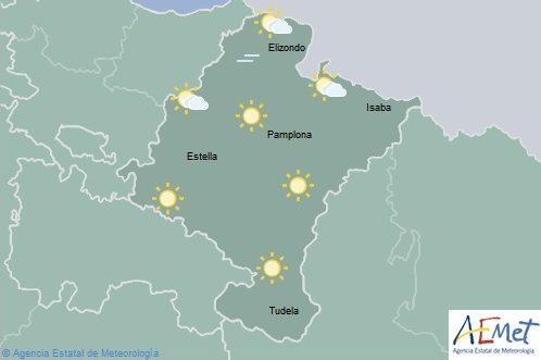 En Navarra tormentas ocasionales temperaturas con pocos cambios