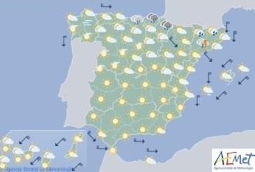 Hoy en España, probabilidad de tormentas fuertes en Cataluña y sur del sistemaIbérico