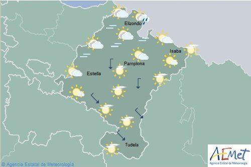 Descenso de las temperaturas máximas en el sureste de Navarra