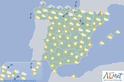 Hoy en España, calor intenso en el noreste y puntos de Castilla-La Mancha y Andalucía