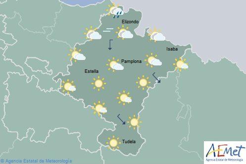 En Navarra precipitaciones ocasionales en la Vertiente Cantábrica