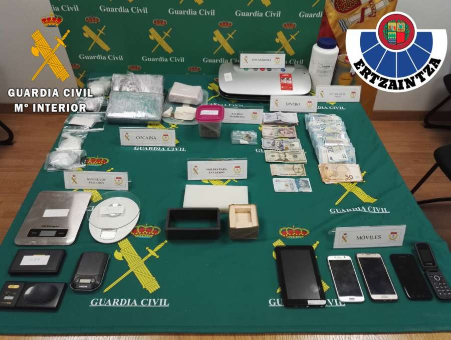 Desmantelada una red dedicada a la venta de droga en Navarra y la CAV